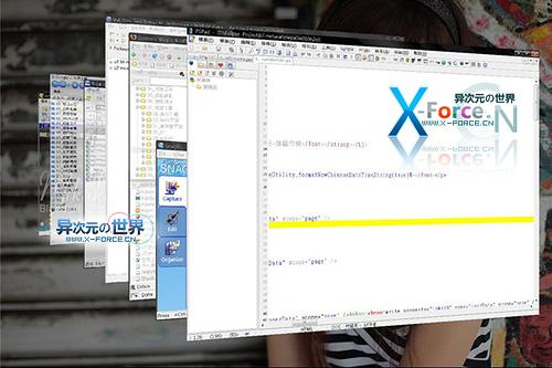 Shock Areo - 让 XP 也拥有 Vista 华丽的 Flip 3D 任务切换特效!