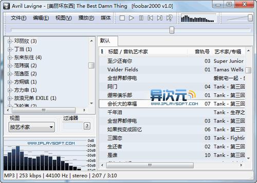 Foobar2000 默认界面截图