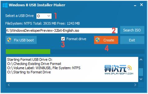 Windows 8 USB Installer Maker
