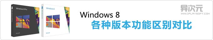 Windows 8 各个版本区别对比,选择哪个版本最好最适合自己