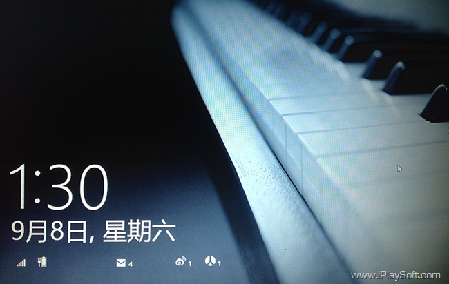 Windows 8 锁屏
