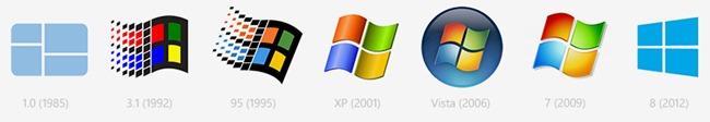 微软 Windows 系统 Logo 历史