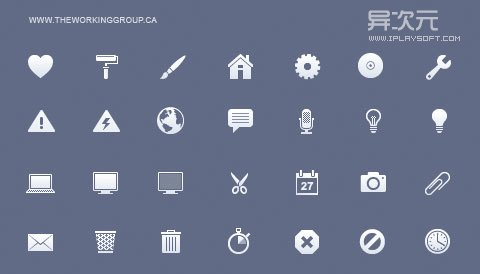 iPhone Retina Toolbar Icons