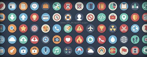 扁平化圆形图标 flat circle icons