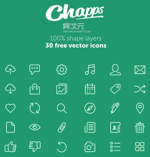 矢量扁平化图标 free-vector-icons-from-chapps