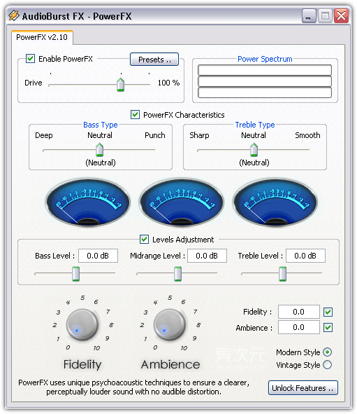 QO Labs Audioburst PowerFX 2
