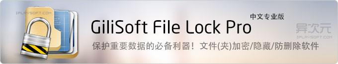 GiliSoft File Lock Pro 中文版 - 强大的文件夹磁盘加密/隐藏/只读防删除保护软件
