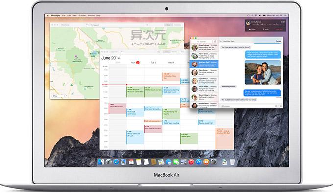OS X Yosemite 扁平化设计