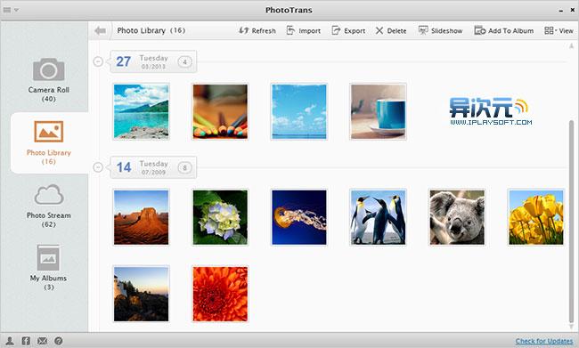 PhotoTrans 管理iOS相册