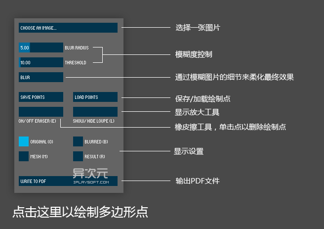 Image triangulator 界面说明