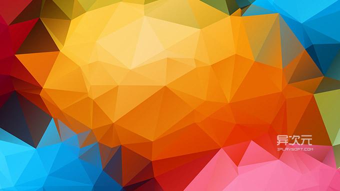 彩色三角壁纸