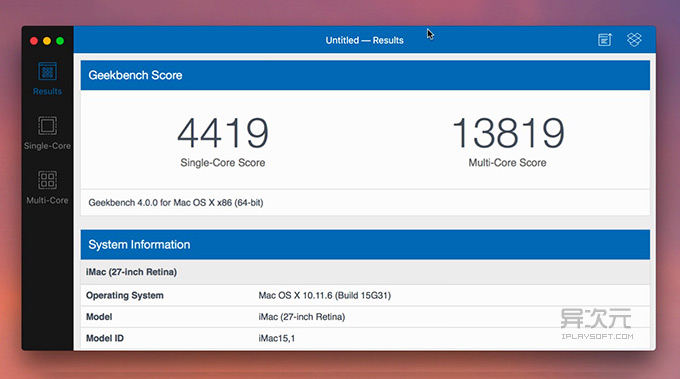 Geekbench for Mac