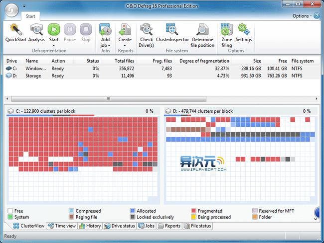 O&O Defrag 软件截图