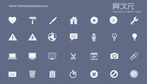 iPhone Retina Toolbar Icons