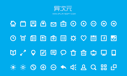 扁平化图标 44 shades of free icons