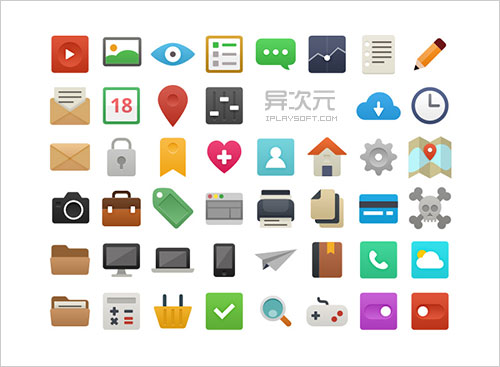 its flat free icons