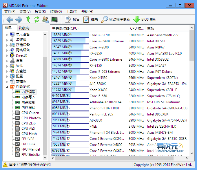 AIDA64 性能测试