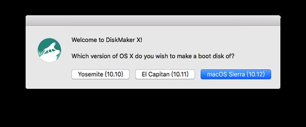 Diskmaker X 制作安装盘