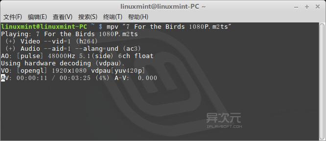 linux mpv 命令行调用