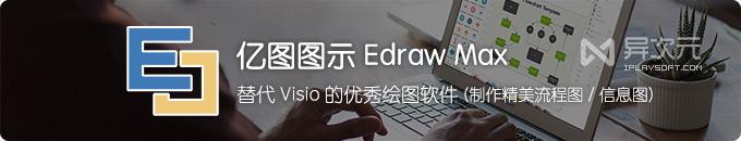 亿图图示 Edraw Max - 替代 Visio 的国产优秀办公绘图软件 (流程图/思维导图)