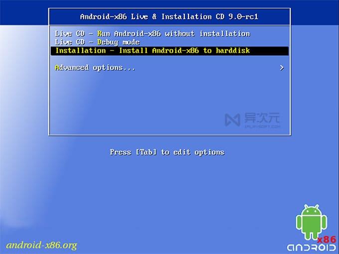 安装运行 Android x86
